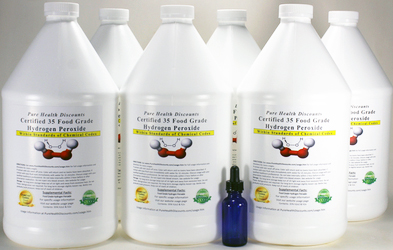 35% Wholesale & Bulk H2o2  Order 6 or more Qts and Gallons